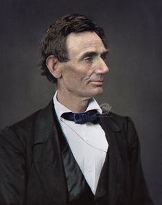 A digital artist has shed new light on famous faces from the past - including former US president Abraham Lincoln (pictured) - by colourising historic black and white i Colorized Historical Photos, Colorized History, Historical Art, American Presidents, American Civil War, American History, Dead Presidents, Black Presidents, British History