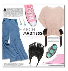 """March Madness: High Tops"" by dolly-valkyrie ❤ liked on Polyvore featuring Forever 21, Converse, Wet Seal and hightops"