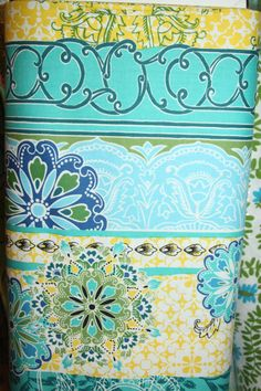 Teal Fabric By The Yard | StudioE Fabric One Yard E601242 Teal Calypso Burst by blinky