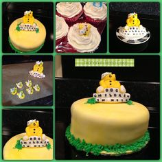 My son's school had a fundraising day for Children in Need 2013. I made this cake for the cake sale alongside 5 cupcakes with buttercream and Pudsey bear face toppers.