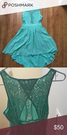 Lace & Open Back BCB Generation Dress Lace & Open Back BCB Generation Dress 👗. I purchased this dress from another posher and it did not fit me. I never wore it. No flaws in great condition. Size 2. High and Low. BCBGeneration Dresses High Low