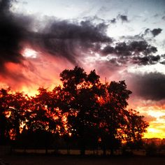 Sunset in Curico, Chile
