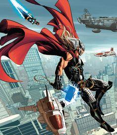 Thor in Original Sin Marvel Comic Universe, Marvel Comics Art, Comics Universe, Marvel Dc Comics, Marvel Heroes, Marvel Characters, Marvel Avengers, Marvel Trailers, Plantas Versus Zombies