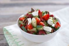 Strawberry Cucumber Salad with Feta and Dill - Eating Made Easy