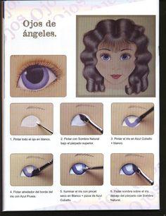 MUÑECOS: curso para aprender a pintar ojos