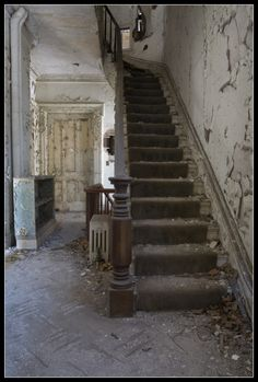 I'm sure this was once beautiful, the twist of the staircase
