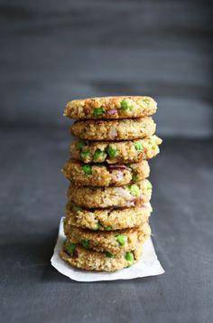 Pesto and pea quinoa patties