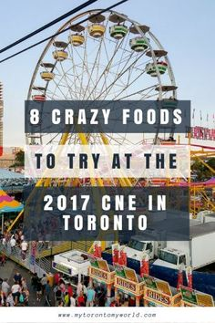 Some must try Frankenstein food at the CNE including ramen burgers and churro icecream sandwiches. This article highlights 8 Foods To Try at the 2017 CNE.