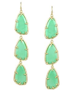 Lillian Long Earrings in Mint - Kendra Scott Jewelry