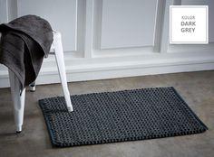 Dywaniki bawełniane łazienkowe ciemnoszare