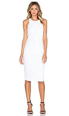Line & Dot Royale Halter Dress in White | REVOLVE