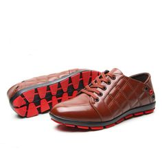 5e3c196479b2 Aliexpress.com   Buy Hot Genuine Leather Men Casual Shoes Autumn Fashion  Breathable Men Leisure Business Leather Shoes Red Bottom Flat Boat Shoes  from ...