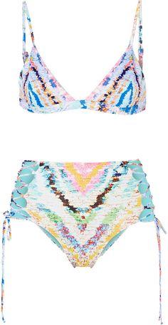PIN ➕ INSTA: @sophiekateloves ✔️ Mara Hoffman Reversible printed triangle bikini