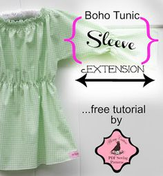 Whimsy Couture Sewing Blog: Free Tutorial - Boho Tunic Long Sleeve Extension Tutorial {FREE}