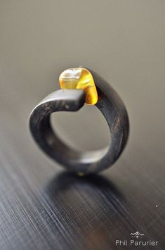 ebony and amber ring wood ring wooden jewelry contemporary jewelery - . - ebony and amber ring wood ring wooden jewelry contemporary jewelery - Wooden Jewelry, Metal Jewelry, Jewelry Art, Jewelry Rings, Silver Jewelry, Jewellery Box, Silver Earrings, Fine Jewelry, Jewelry Ideas