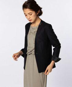 カルゼジャージVジャケット(ノーカラージャケット)|NOLLEY'S(ノーリーズ)のファッション通販 - ZOZOTOWN