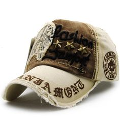 c107b5ec Unisex Cotton Washed Vintage Embroidery Baseball Cap Adjustable Golf  Snapback Hat For Men Women