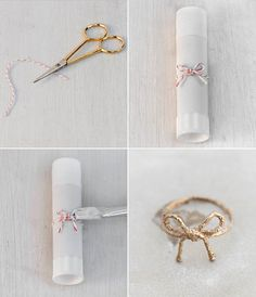 DIY Twine Bow Ring & Knot Ring