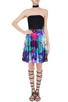 Buy Sea green digital printed skater skirt by NEHA TANEJA online 9bfa68fc3