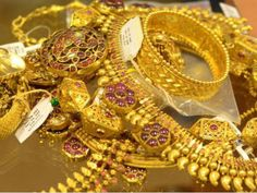 On Tuesday, Gold and Silver were trading higher in morning trade on the Multi Commodity Exchange. The Yellow Metal Trading at higher. Jewelry Shop, Jewelry Stores, Jewellery, Sell Your Gold, Real Gold Jewelry, Gold Money, 22 Carat Gold, Gold Rate, Gold Tips