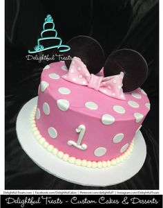 minnie mouse rossette pink cake - Google Search