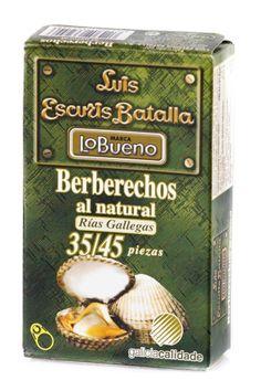 Berberechos al natural de la Ría 35/45 Piezas   http://tuaperitivo.com/27-conservas-del-mar