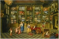 Gaspar de Witte(1624–1681)The allegorical female figures Nature and Pictura in an art-collection, with representative Antwerp canvasses  Date1639-1681Mediumoil on canvasDimensions164 × 241 cm (64.6 × 94.9 in)