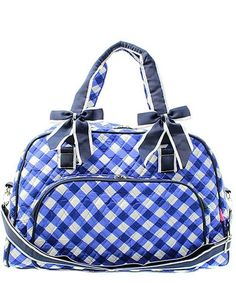 "18"" Quilted Duffle Tote Bag Kids Girls"