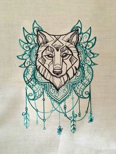 Spirit of Wolf Tarot/Altar Cloth by ToadWerks on Etsy