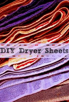 DIY Dryer Sheets:  Save Money By Making Your Own Dryer Sheets At Home. - http://couponingforfreebies.com/diy-dryer-sheets/