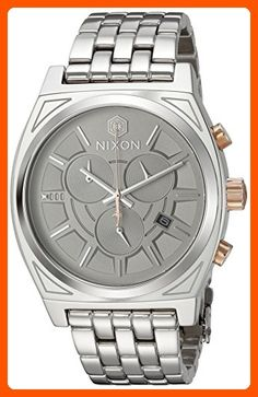 Nixon Men's 'Star Wars Phasma' Quartz Stainless Steel Casual Watch, Color:Silver-Toned (Model: A972SW2445-00) - Mens world (*Amazon Partner-Link)