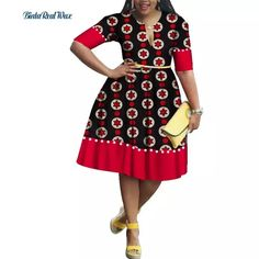 Casual Bazin Riche Imitation Pearls Patchwork Draped Dress African Print Dresses for Women Traditional African Clothing Best African Dresses, Latest African Fashion Dresses, African Print Dresses, African Print Fashion, African Attire, Ankara Fashion, Traditional African Clothing, Style Africain, Casual Dresses For Women