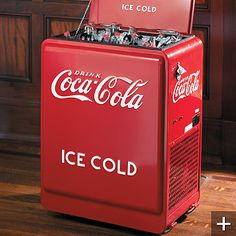 Love the 50's coca cola cooler  The small Coca Cola bottles always seem to taste the best when pulled ice cold from the cooler.