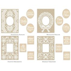 Anna Griffin® Mix & Match Embossing Folders w/2 Dies AS (September 2015 Autoship)