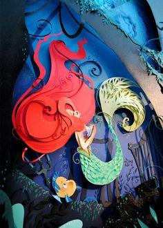 Paper Ariel - by Brittney Lee