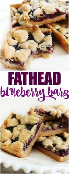 Fathead blueberry bars are an easy dessert that I bet you thought you couldn't. - Fathead blueberry bars are an easy dessert that I bet you thought you couldn't have on the low carb/ keto diet. With this dough it is possible. Keto Desserts, Keto Snacks, Easy Desserts, Dessert Recipes, Paleo Dessert, Dessert Bars, Cheesecake Recipes, Low Carb Dessert Easy, Diabetic Cheesecake