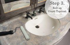Giani Granite -- DIY Faux Granite Countertops -- it's paint!