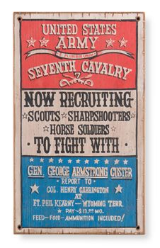 US Army Cavalry Recruiting Poster:  www.blackenwolf.com .... Military LED Logo Lights