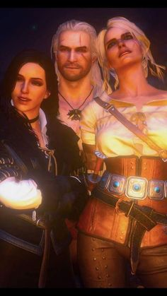 Yennefer, Cirilla and Gerald