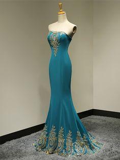 Formal Evening Dress Trumpet/Mermaid Strapless Floor-length Satin Dress - USD $ 89.99