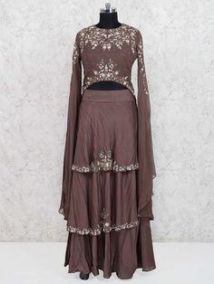 Lehenga Choli: Buy Ghagra Choli Online in India, Wedding Bridal Chaniya Choli Shopping Western Outfits For Women, Clothes For Women, Designer Gowns, Indian Designer Wear, Sari Dress, Maxi Dresses, Different Types Of Dresses, Brocade Lehenga, Anarkali Gown