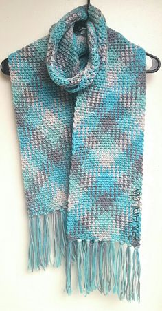 Technique :: Planned pooling using RHSS 'Icelandic' colorway. Scarf by RockinLola; stitch counts given for each color using hook size 'I'