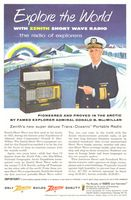 Zenith Trans-Oceanic Short Wave Radio 1955 Ad Picture