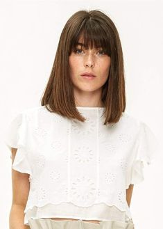 Loa Embroidered Crop Top White