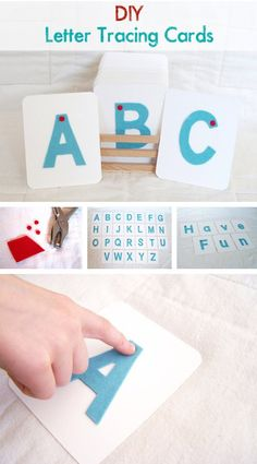 {DIY Letter Tracing Cards} Learn how to make felt finger tracing cards for the little writer in your life...