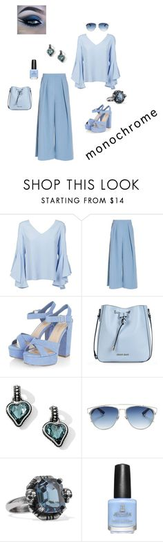 """Baby Boo Blue"" by miss2013 ❤ liked on Polyvore featuring Dondup, Roksanda, Armani Jeans, Bibi, Christian Dior and Alexander McQueen"