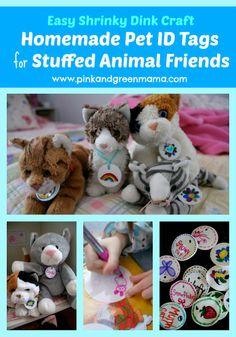 Shrinky Dink Fun: Homemade Stuffed Animal Name Tags