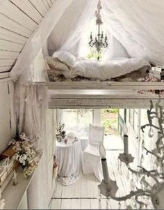JUST MY LITTLE PLACE IN THE FOREST Rapunzel, let down your hair from your princess bed.