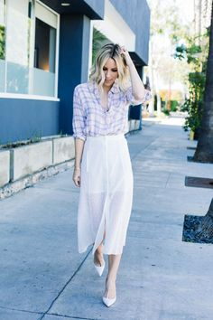 White Skirt and Rails Top