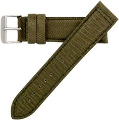 039966fa8fa 22mm Hadley-Roma MS849 Olive Green Canvas Water-Resistant Mens Watch Band  Strap.